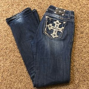 Miss Me Distressed BootCut Jeans - 32x37 (x-long)